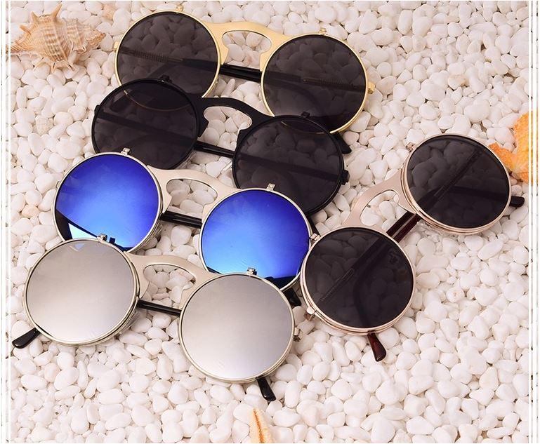 aofly men round vintage sunglasses 1