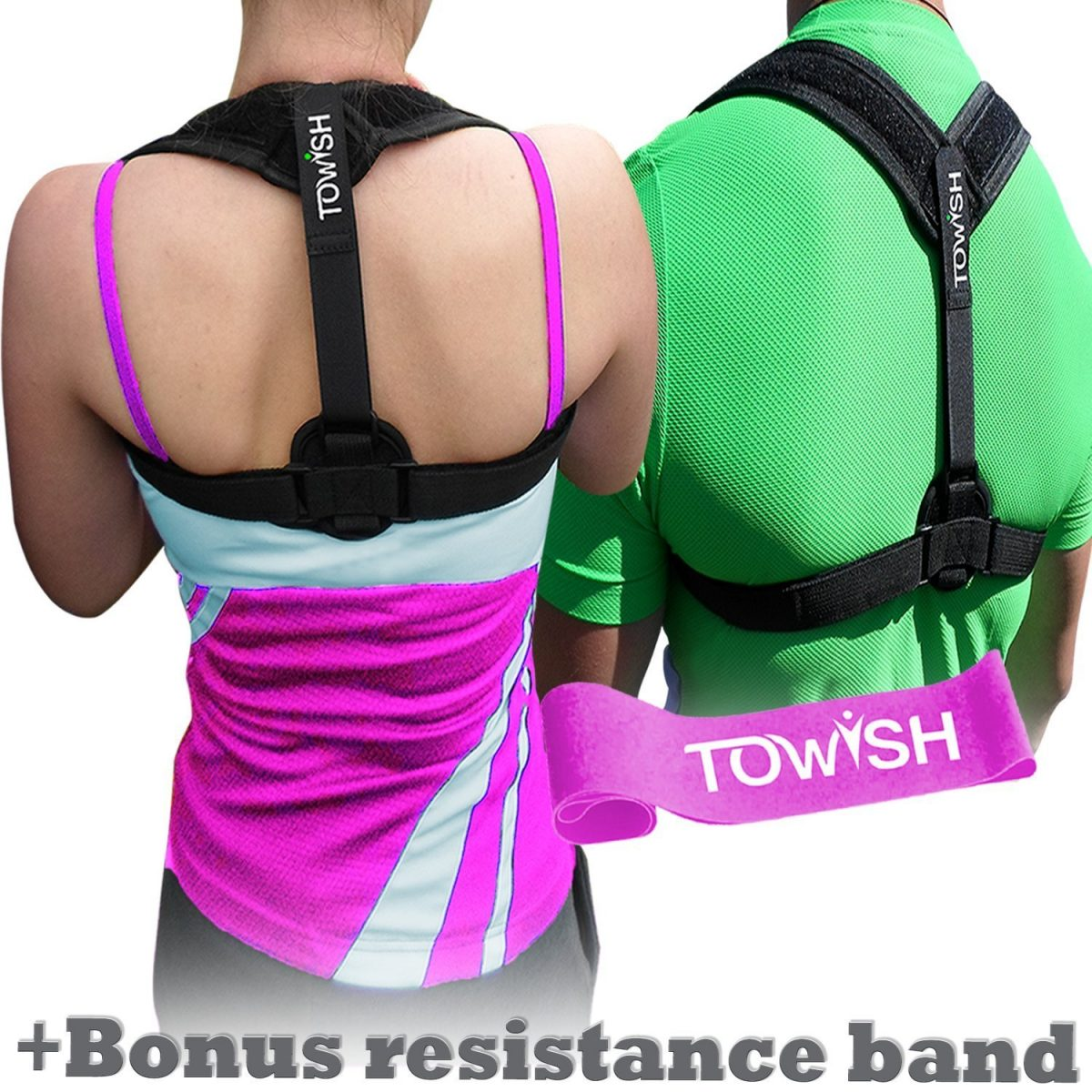TOWISH Posture Corrector – Your Adjustable Back Support