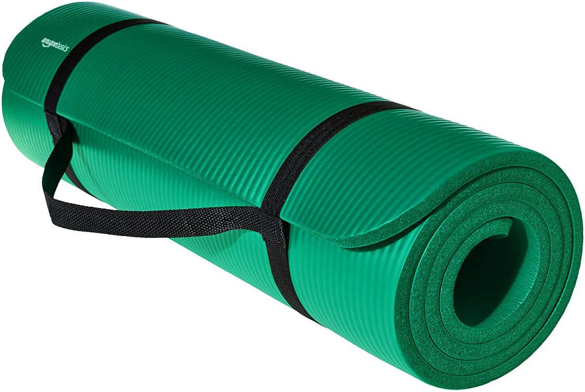 AmazonBasics Thick Exercise and Yoga Mat Best for Workout Routines – $17.99